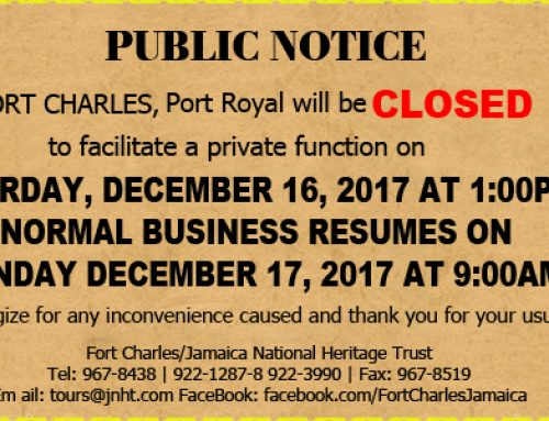 Charles Early Closure Notice Saturday December 16, 2017