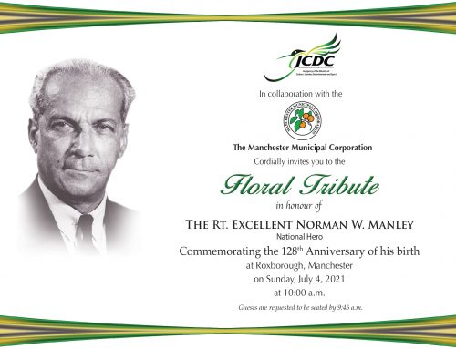 Floral Tribute of the Rt. Ex. Norman W. Manley 2021