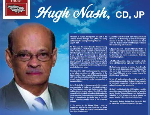 JNHT Salutes Hugh Nash, CD, JP